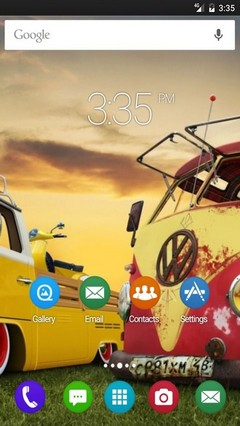 Colorful cars retro GO Launcher Theme