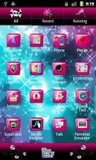 Pink Gloss Go Launcher Theme