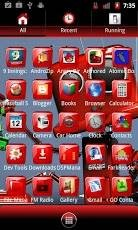 Red Gloss Go Launcher Theme