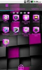 Pink Cube Theme GO Launcher EX