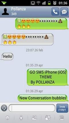 GO SMS iPhone (iOS) Theme.apk