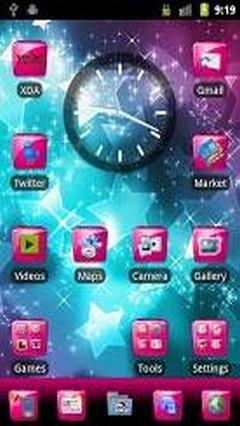 Pink Gloss Go Launcher Theme