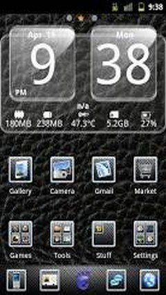 Carbon Gloss Go Launcher Theme
