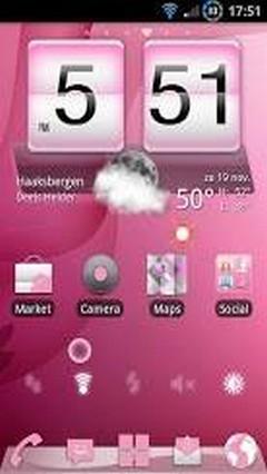 Elegant Pink Theme GO Launcher