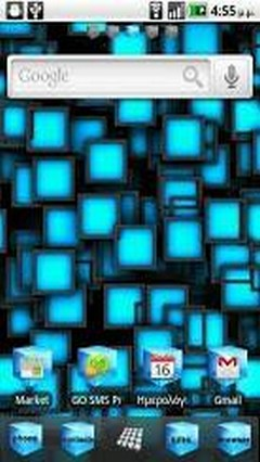 Blue Cube Theme GO Launcher EX