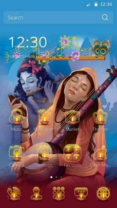 Lord Krishna Android theme