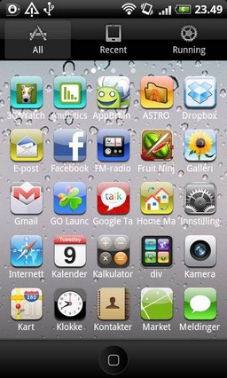 iPhone - GO Launcher EX Theme