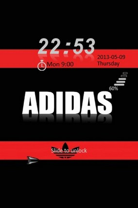 Adidas Red & Black Locker