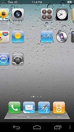 Fake-iPhone-Theme