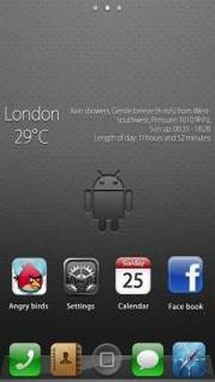 iPhoneS theme GO Lacuncher EX 1.0