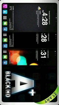 A Black HD Go Luncher Theme