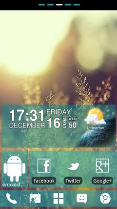WP7blue Theme GO Launcher EX