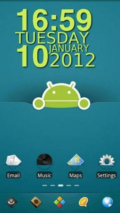 Android Robot Go Launcher EX