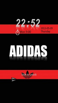 Adidas Red & Black Locker