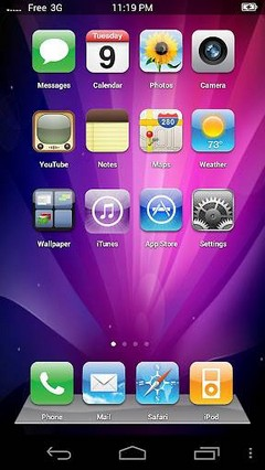 Fake-iPhone-Theme