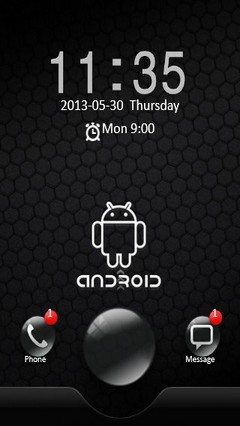 Black Android Locker