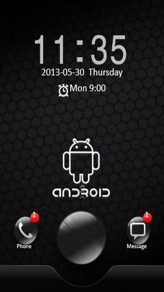 Black Android Locker