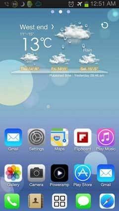 iOS 7 iPhone Theme Go Launche