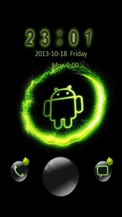 Neon Android Go Locker