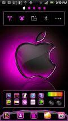 Pink Apple Launcher EX Theme