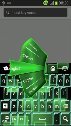 Neon Keypad for Galaxy S3 Mini