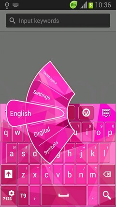 Pink Keyboard for Galaxy S5