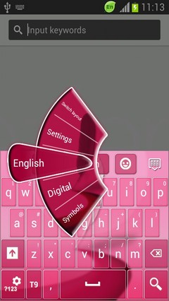 Pink Keyboard for Galaxy Note 2