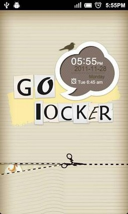 GO Locker Paper-cut Theme