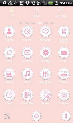 Go Launcher Theme Ypung Girl