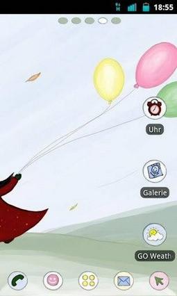 Go Launcher Luftballon Theme