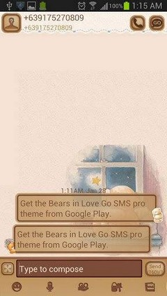 Bears in Love Go Sms