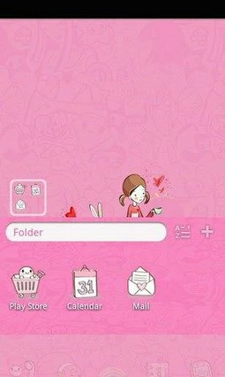 Sweet Lover Girl Go Launcher Theme