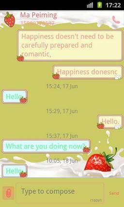 Go Sms Pro Strawberry Theme