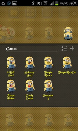 Crazy Minion Go Launcher EX Theme