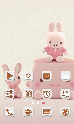 Cute Bunny for 360 Launcher
