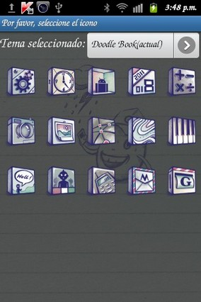 Doodlebook Go Launcher Theme v1.6