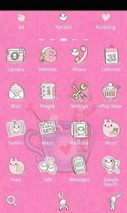 Sweet Lover Girl Go Launcher Theme