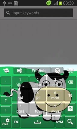 Cute Cow Keyboard-release