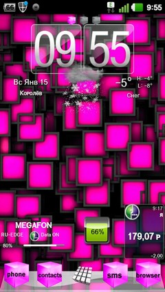 Pink Cube Theme GO Launcher EX 1.0