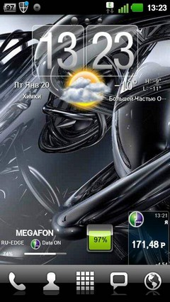 Theme Black Pearl GO Launcher EX 1.07