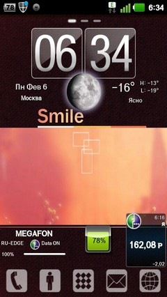 Smile Theme GO LauncherEX 1.0