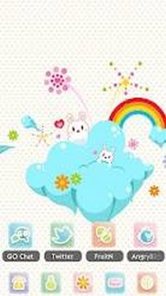 Rabbit Rabi Theme GO Launcher