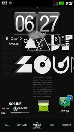 Typo Black GOLauncher EX Theme 1.1