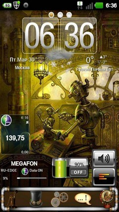 Theme Steampunk GO Launcher EX 1.01