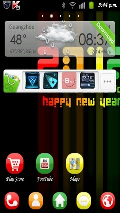 colour 2012 GO Launcher EX Theme