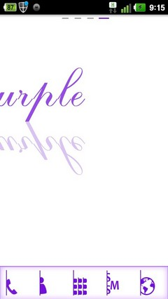 Purple Simple Go Launcher Ex(zi) 1.0