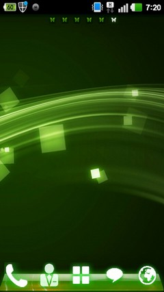 Green led Go launcher theme 1.0