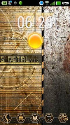 Metal Sci Fi GO Launcher Theme 1.0
