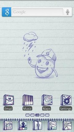 Doodlebook Go Launcher Theme