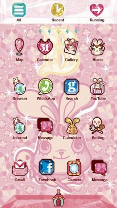 Bunny King GO Launcher Theme